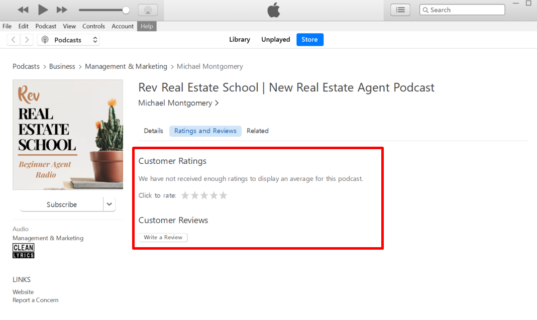 Give us the scoop! Note: You will need an  iTunes Account  (if you don't have an iTunes account, you can easily create one or just rate and review on the podcast app of your choice!)