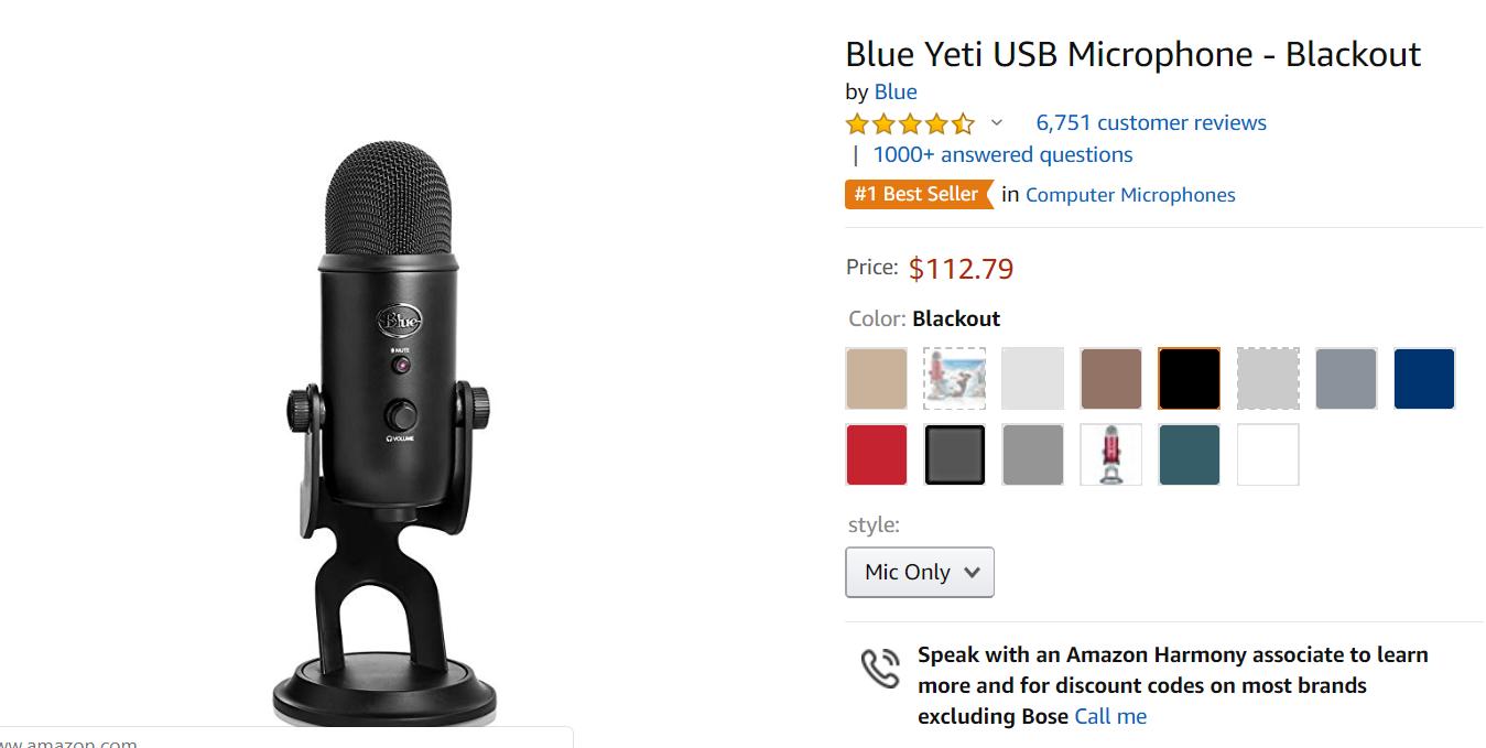 Podcast Microphone USB