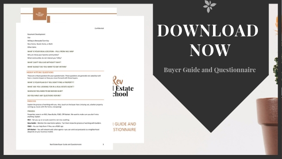 Real Estate Buyer Questionnaire PDF