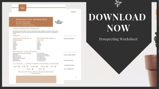 Prospecting Worksheet Download