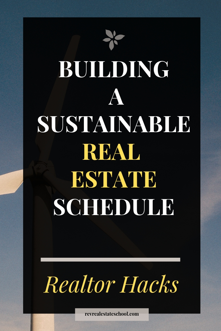 Real Estate Agent Prospecting Schedule
