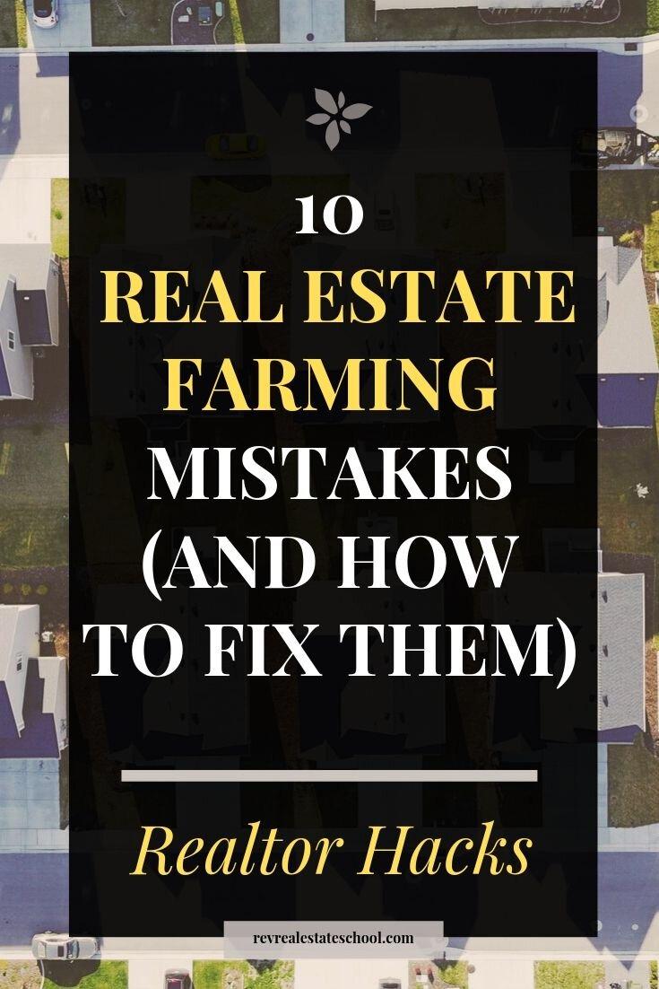 Geo Farming Mistakes Real Estate