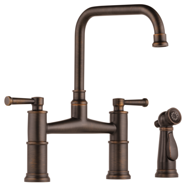 Brizo Tresa $549 - $1,064/ListThe Tresa® Kitchen Collection features traditional yet timeless styling that bridges the past and present. TWO HANDLE BRIDGE KITCHEN FAUCET WITH SPRAY
