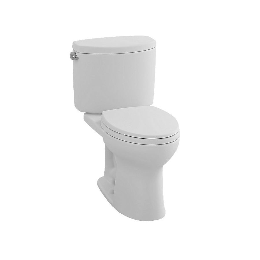 Toto Drake® II $249 - $578/ListCotton - Drake® II Two-Piece Toilet, 1.28 GPF, Elongated BowlCeFiONtectDouble Cyclone Flushing SystemComputer Designed, Fully Glazed TrapwayElongated BowlChrome Trip LeverUniversal HeightADA Compliant12