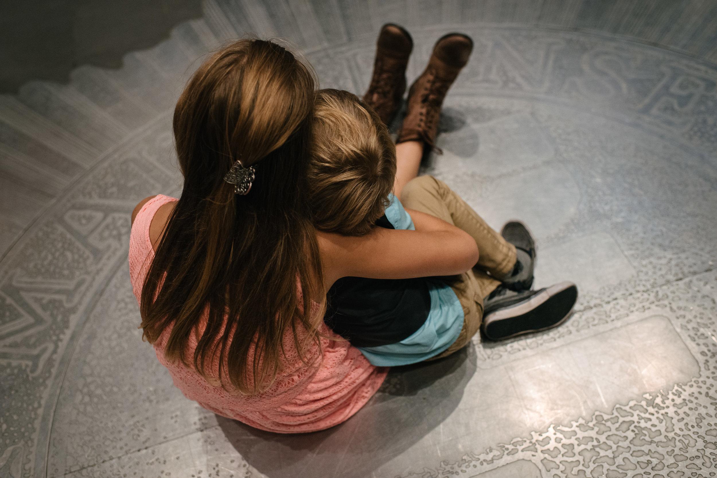 Kids, snuggled on the dancefloor...(Kingston)
