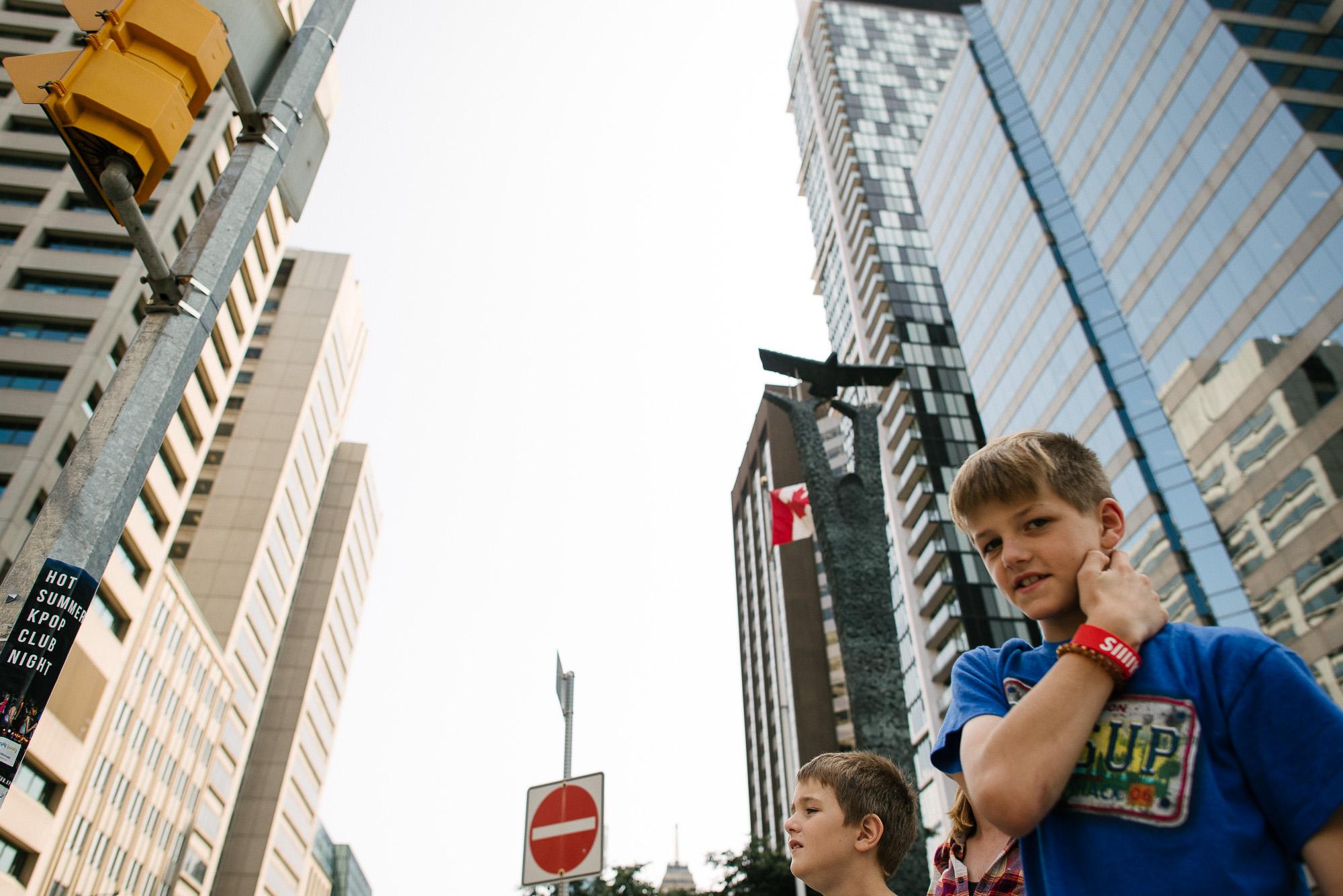 boys in an urban scene toronto