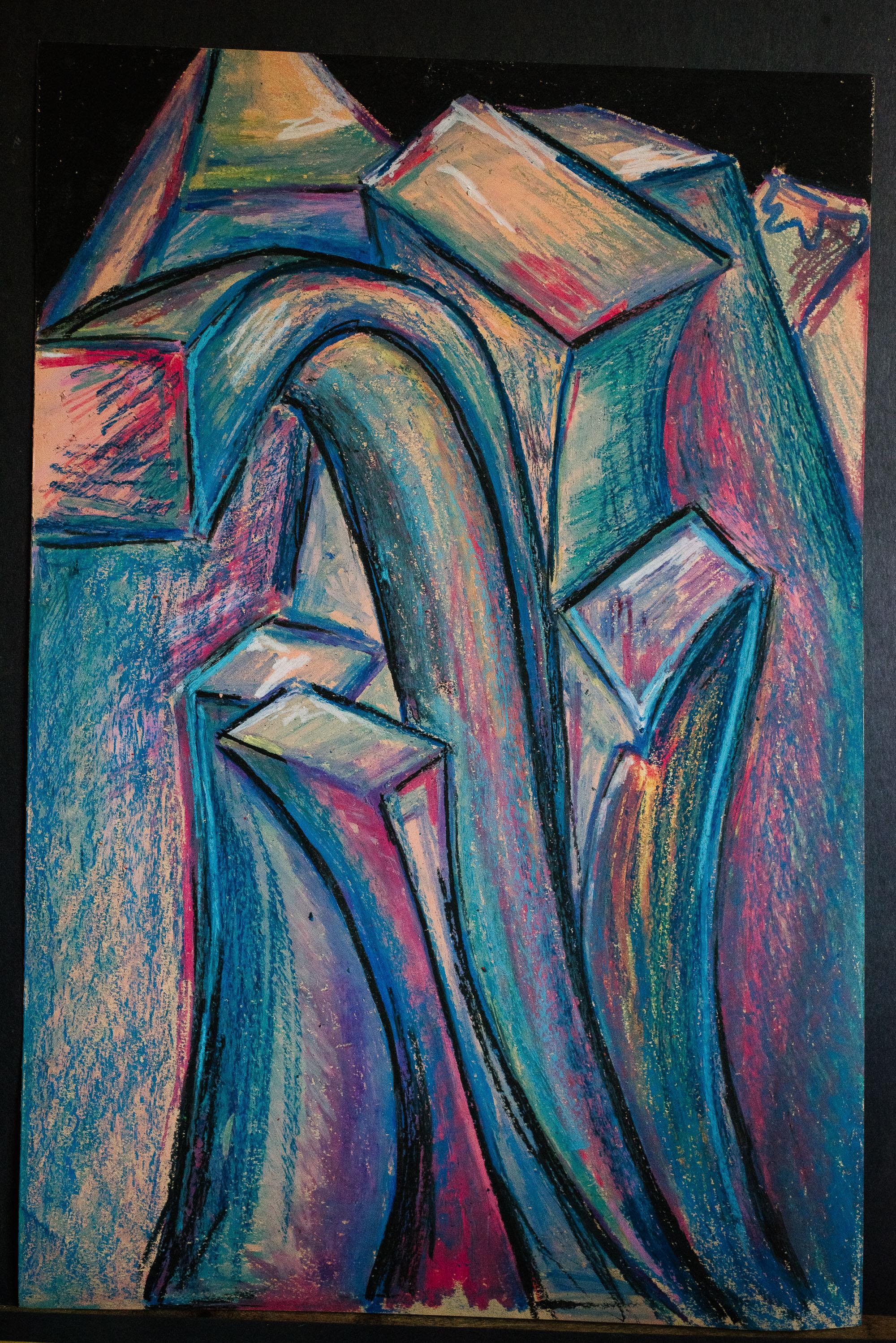 twisting tall purple buildings ap art viara mileva