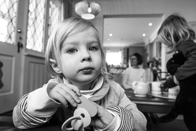 girl looks at the camera during ottawa family photography session