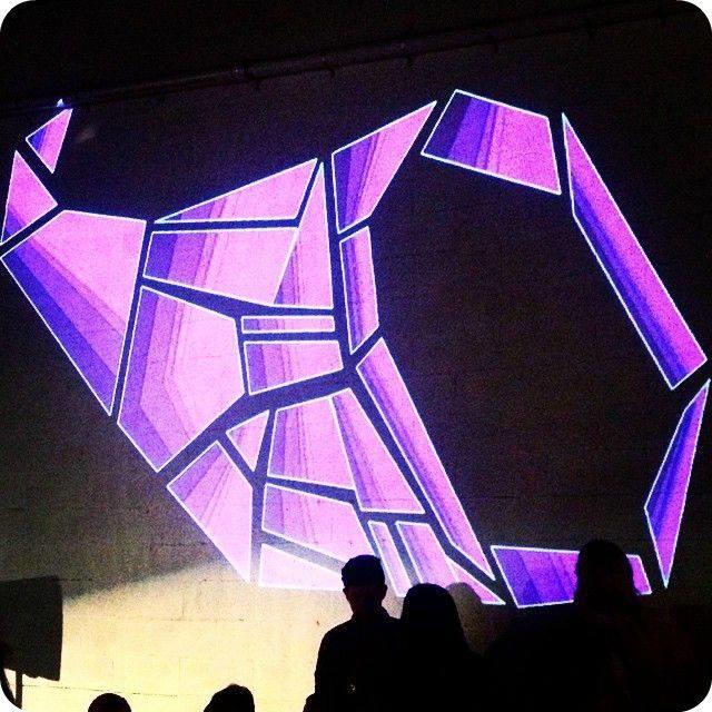 FEAST Logo Projection Art
