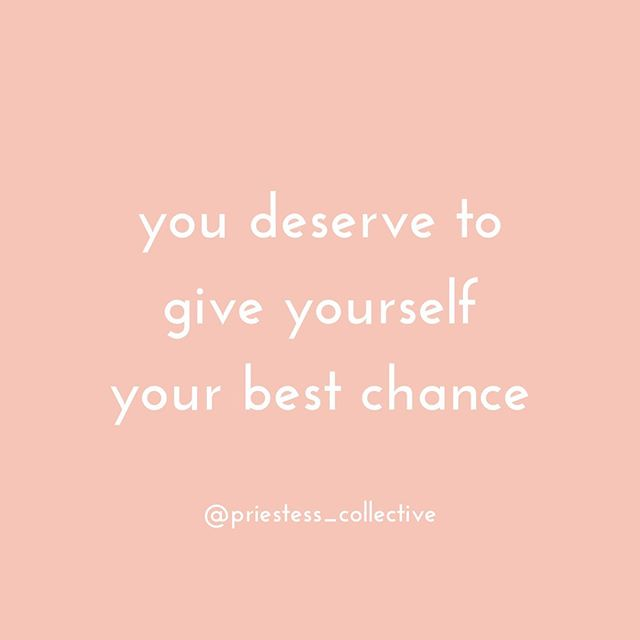 "🤩 My favorite quote! And it's so true girls, you deserve to give yourself your best chance. You deserve to heal, to go into your darkness and empower yourself to own your story, to define your past not as something that limits you, but as something that empowers you to choose your highest self and your highest potential in life. You deserve to have boundaries, to say no to what no longer serves you and say a heartfelt ""Yes!"" to your dream life. You deserve to live a life where you feel inspired, not just lukewarm but all in for your desires. You deserve to be free, whatever that looks like to you. And you deserve to be treated well, to respect yourself enough to create relationships that nourish you. You deserve so much girl, so give yourself permission to OWN IT!!! Because you're always and ever so effing worth it!🌻 Tell me in the comments below, how are you choosing to give yourself your best chance today?"