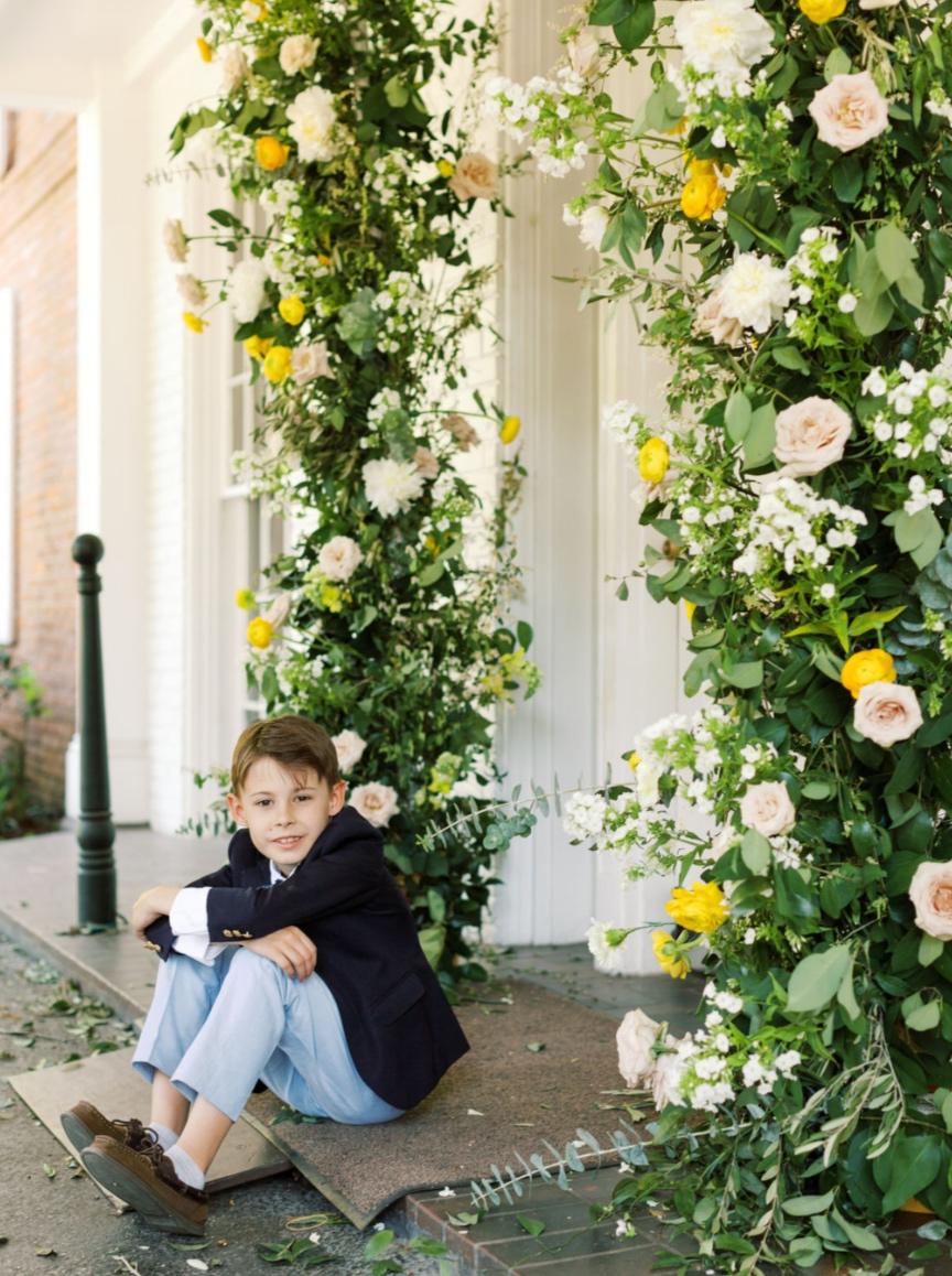 houston wedding floral archway