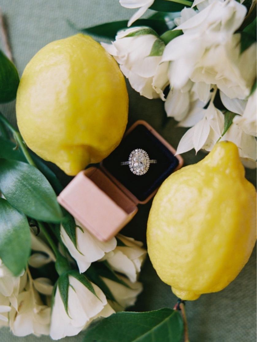 lemon themed wedding ring