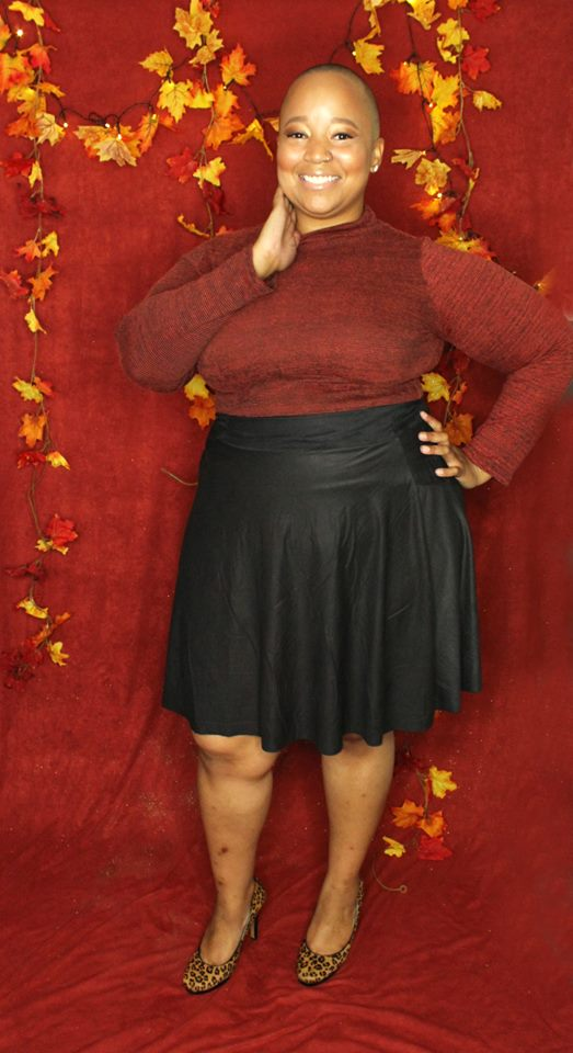 The Ayanna Micro Suede Circle Skirt  by SmartGlamour