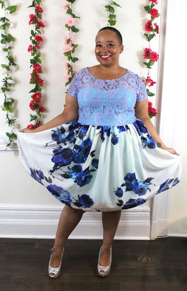 The Wendy Lace and Chiffon Dress  by SmartGlamour