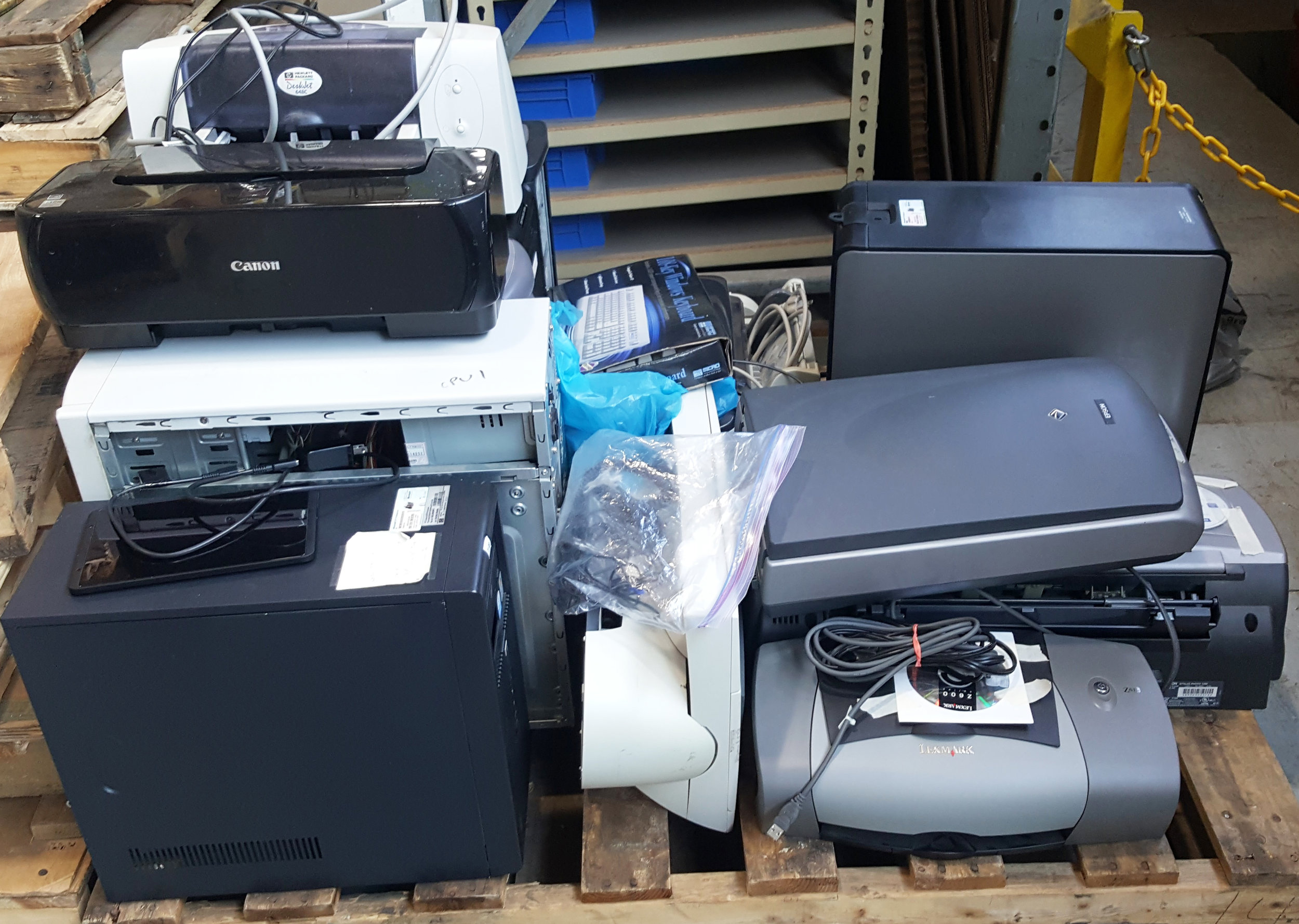 Intervala employees kept dozens of old printers, monitors, computers, and laptops from ending up in landfills. The unused electronics will be responsibly recycled instead.