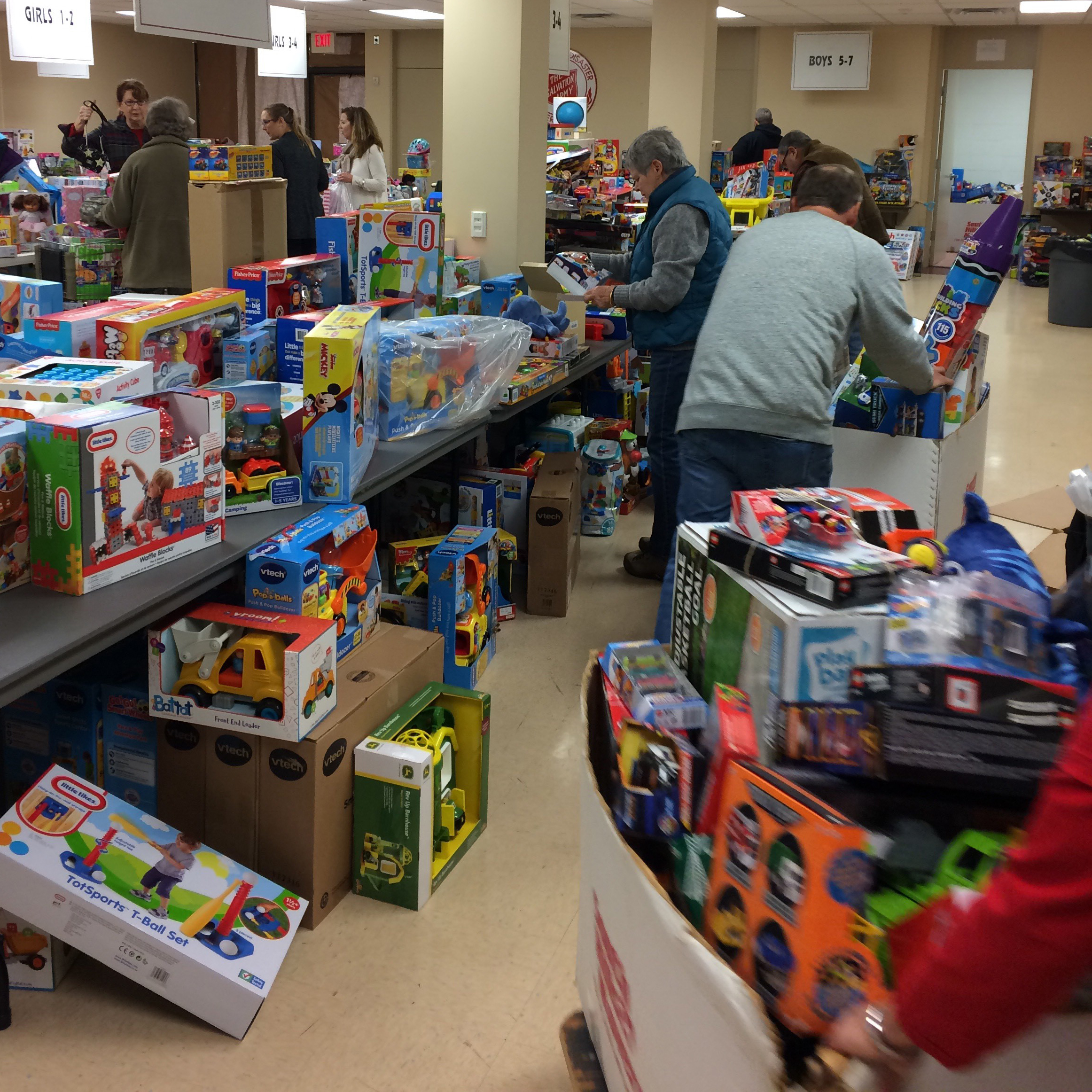 The Treasures for Children toy campaign is just one way the Salvation Army helps those in need during the holiday season. They also provide thousands of children and individuals with Thanksgiving and Christmas dinners, winter coats, clothing and other essential items.