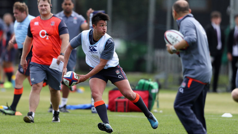 Starlet Marcus Smith training for England