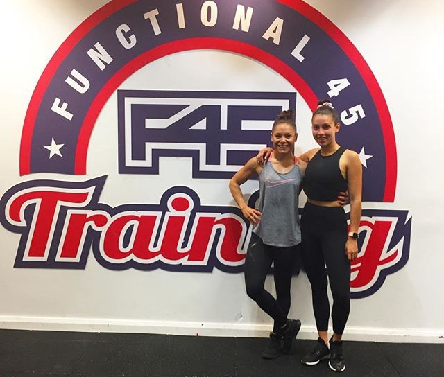 Chloe Kiara (right) is a fitness and instructor and marketing graduate.