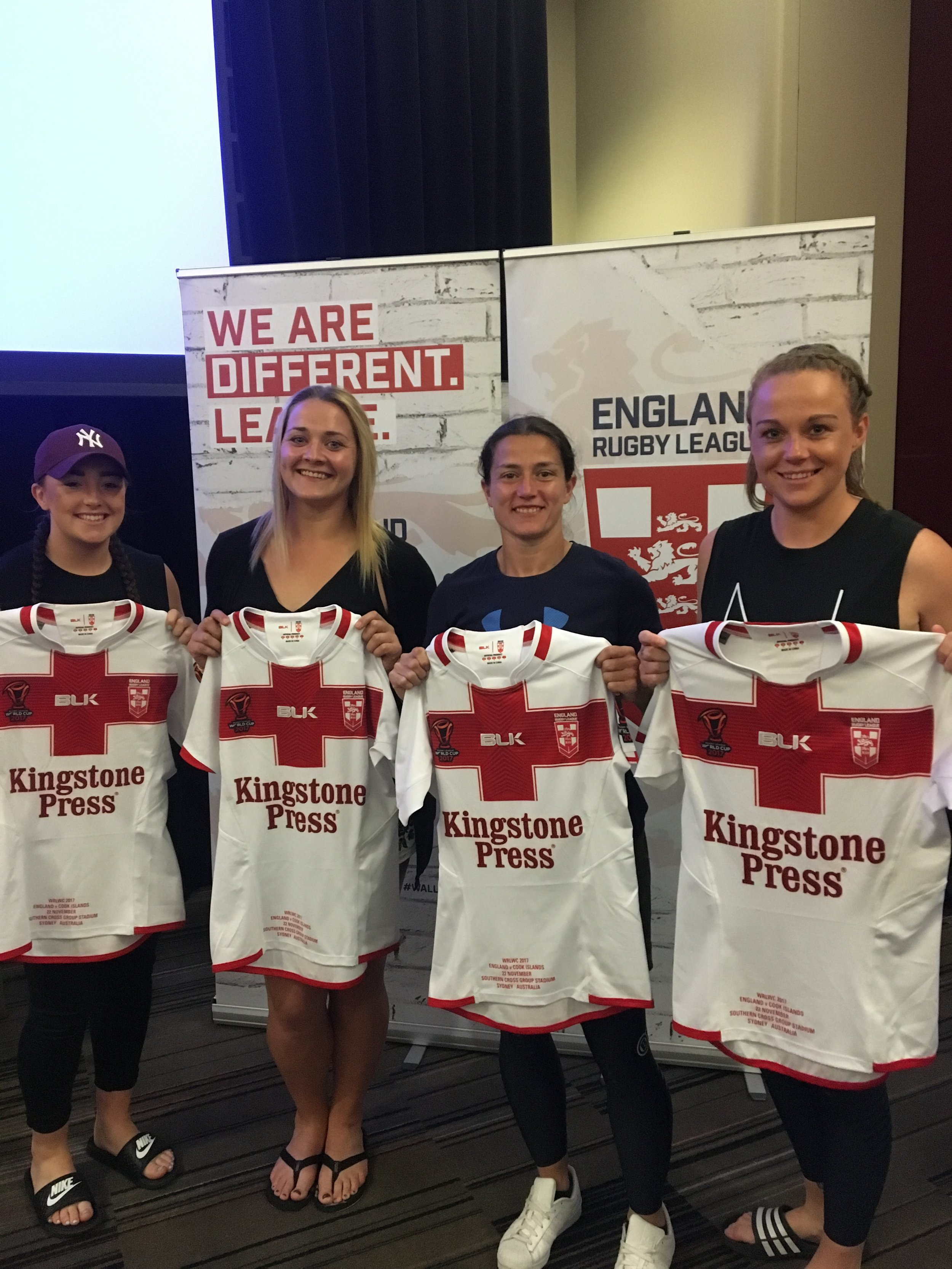 Danika (2nd from left) at England shirt presentation