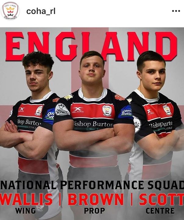 The big three! City of Hull players picked for England - Photo credit: Ben Towse (City of Hull Academy)