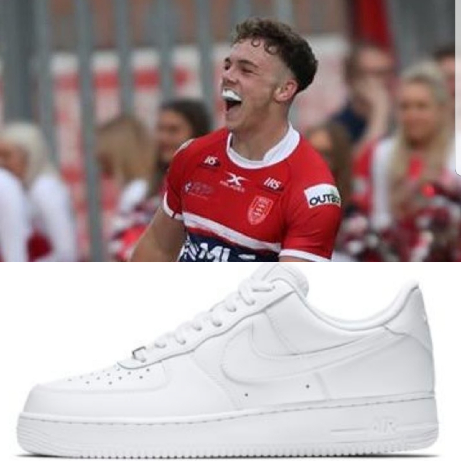 Maverick Elliot Wallis is already a fans favourite despite only breaking into the first team from the Academy this year. But what do you think of his Air Force 1's?