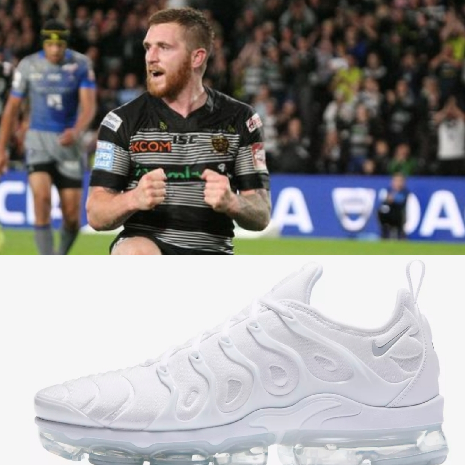 He's an Ice Cold assassin in high-pressure situations, but what do you think of Sneyd's Icy white VaporMax trainers?