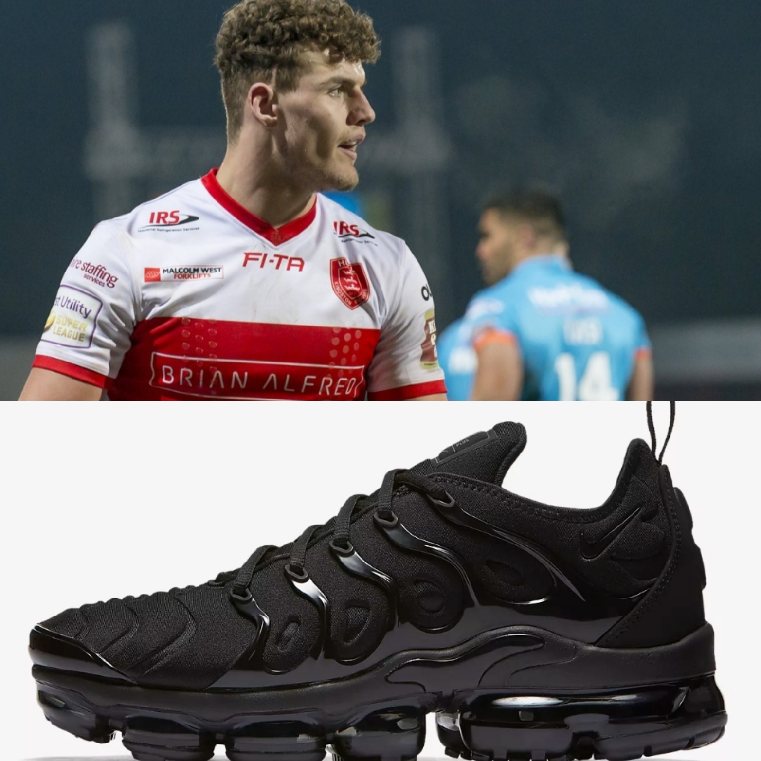 A popular choice, Loose-Forward George Lawler is also a big fan of the all black VaporMax!