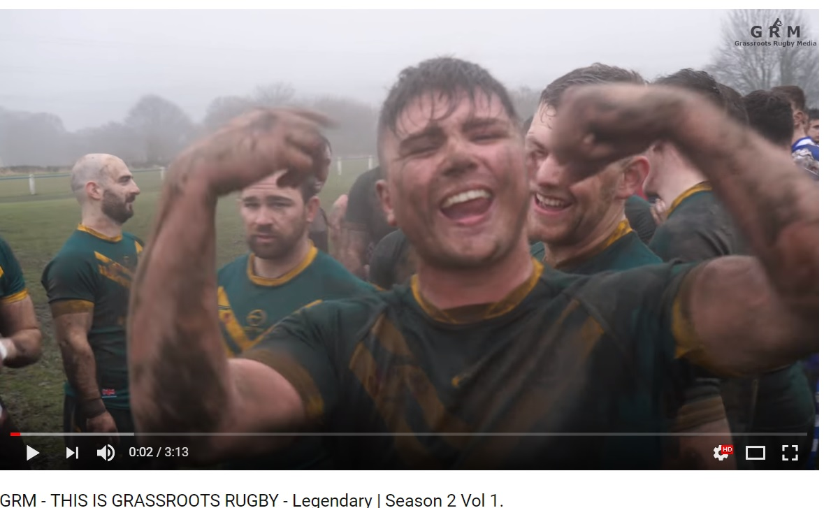 George Clarke celebrating at the end of the match following a very comprehensive win over Siddal. I covered this game and you can watch this episode on our Youtube channel!