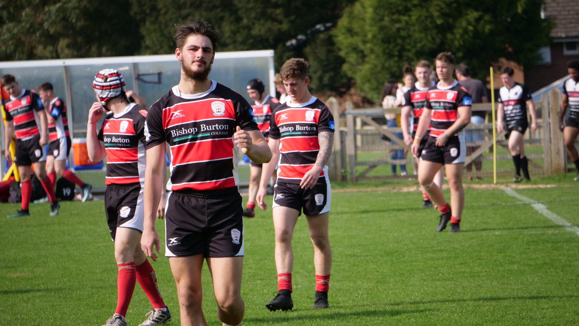 Josh Atkinson (centre) was listed in the GRM top 40 players of 2018