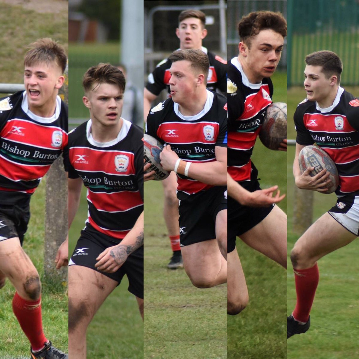 Several City of Hull graduates have signed proffesional contracts with Hull FC and Hull KR in the past 12 months  Left to right (Mikey Lewis, Adam Rooks, Jack Brown, Elliot Wallis, Cameron Scott)