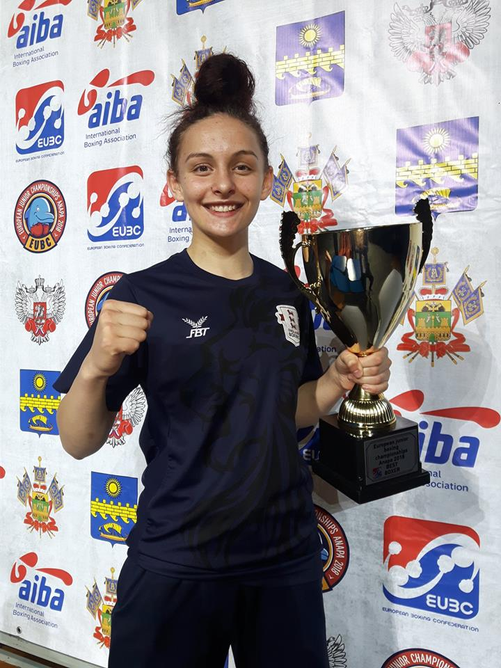 European boxing champion Courney Scott has been Ellie's toughest opponent to date.