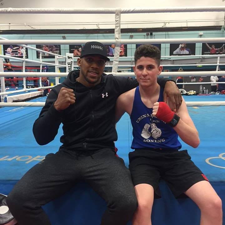 Christy Collins with Anthony Joshua.