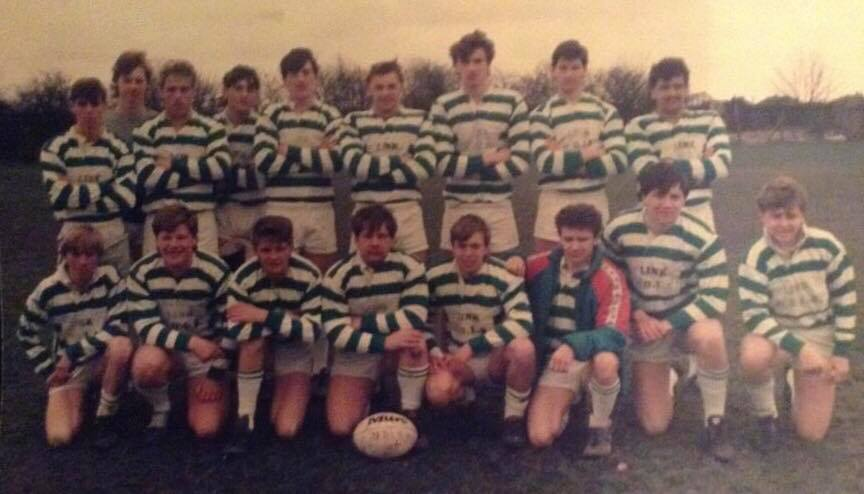 Front row, 3rd from left - Dave Wray played his amateur rugby with Hull Dockers.