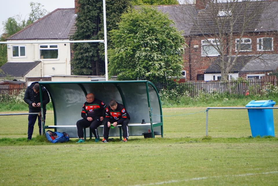 Tony Spence and Dave Wray in the dugout together.