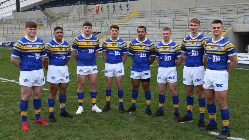 Coby Nichol (centre) plays for Siddal and Leeds Rhinos. Nichol has recently been selected to represent England.