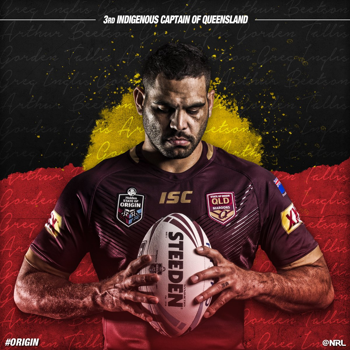 Greg Inglis is Coby's rugby hero