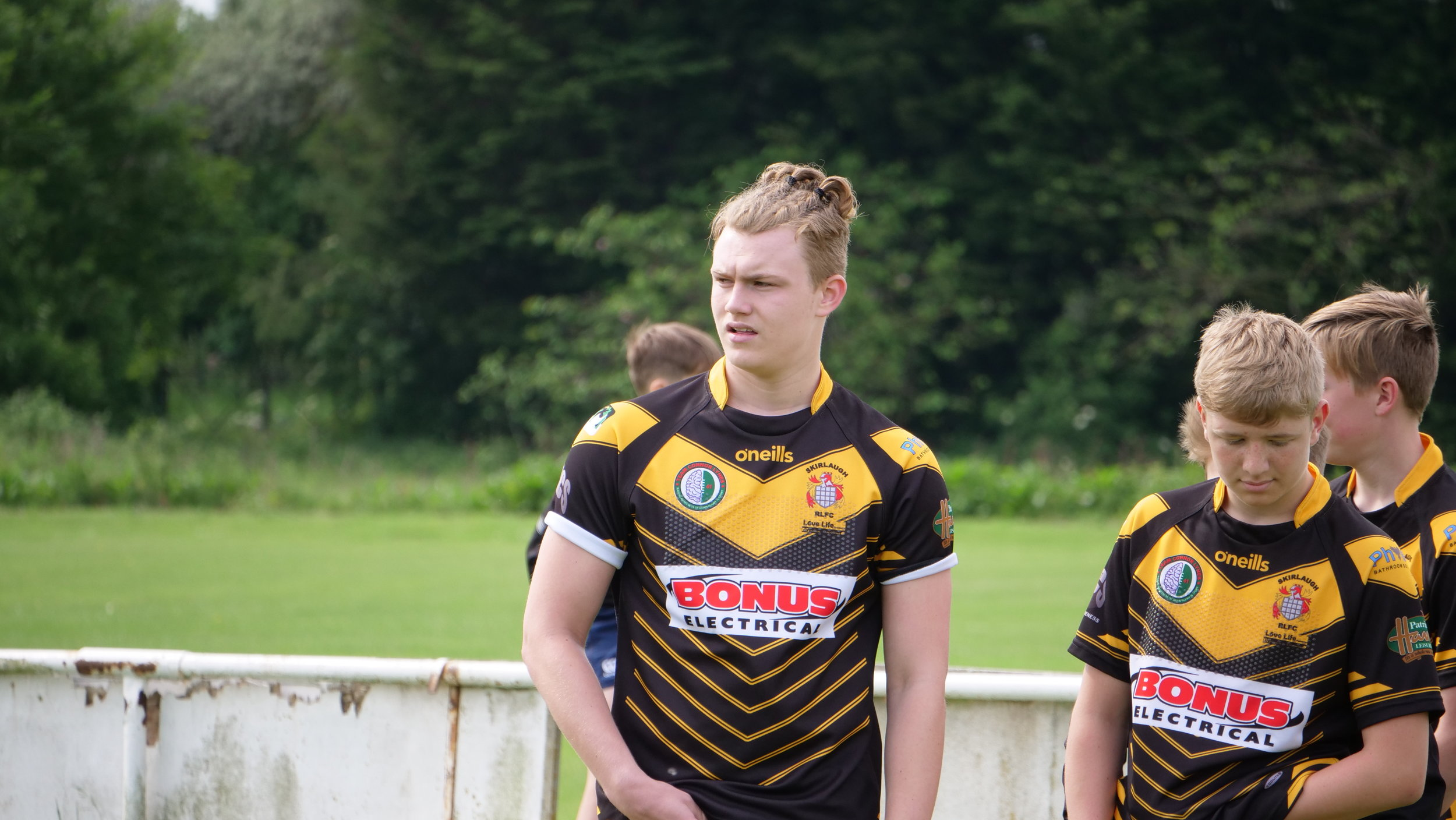 Connor Barley (left) is a highly rated rugby player who has recently signed a 2-year scholarship with Hull Kingston Rovers