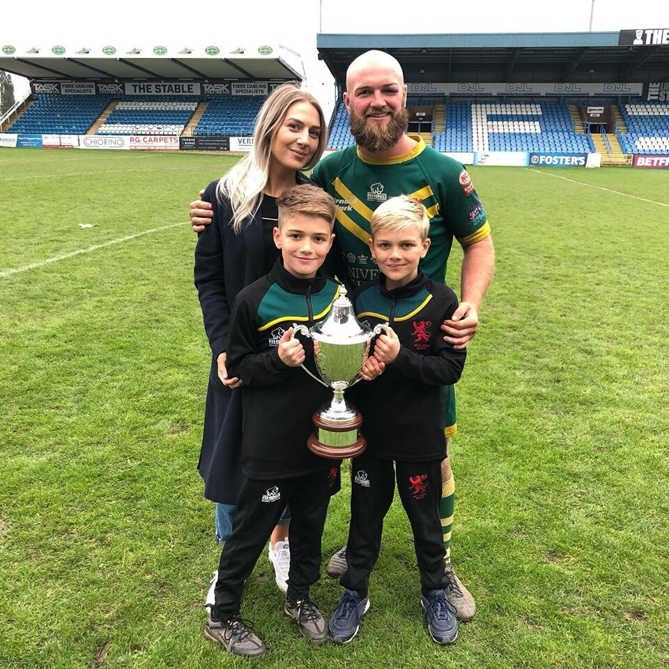 West Hull Captain Ryan Steen with his family.