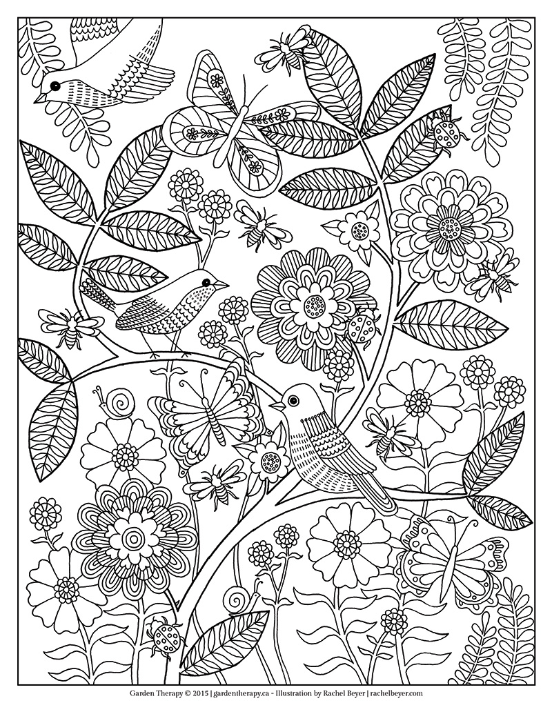 Life's A Garden Coloring Page