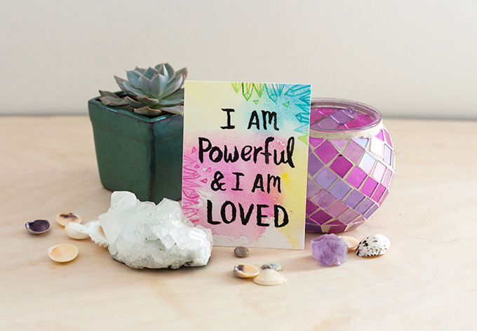 Watercolor Affirmation Cards