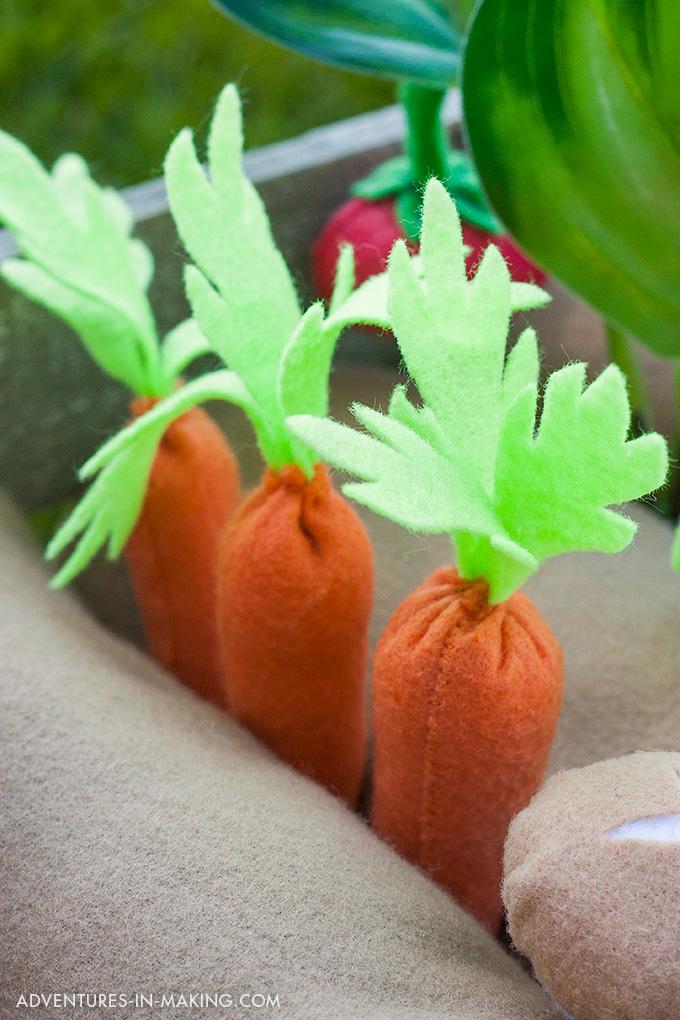 Plantable Felt Carrots