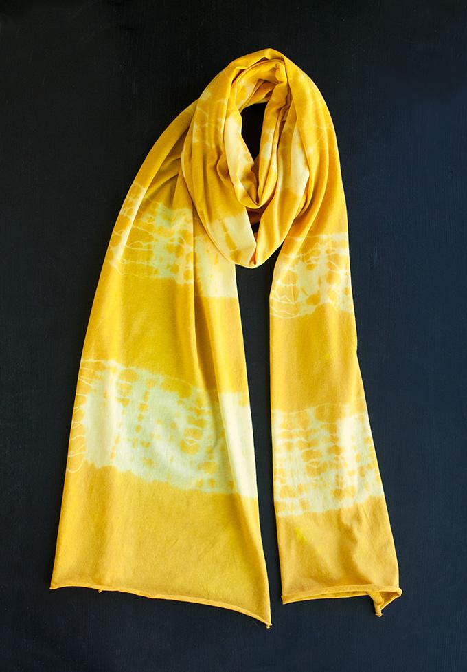 Turmeric Tie-Dye Scarf