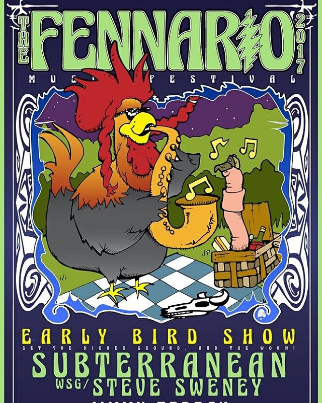 Early bird gets the worm. Sub T gets the party started early at Fennario. 3 sets of Sub T Thursday night featuring Steve Sweney from Ekoostik Hookah.