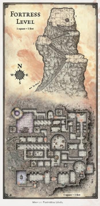 "Fortress Level - Original size 3-5/8"" x 7-5/8"""