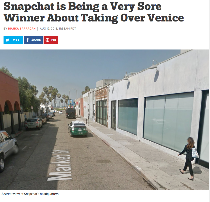 Youth shelter, Teen Project, booted out - Teen Project works to provide housing for young homeless people. They were formerly located near Snapchat headquarters on Market before Snap expanded. Weird that Snap's primary target audience is teens and they kicked the ones in need out. Article here