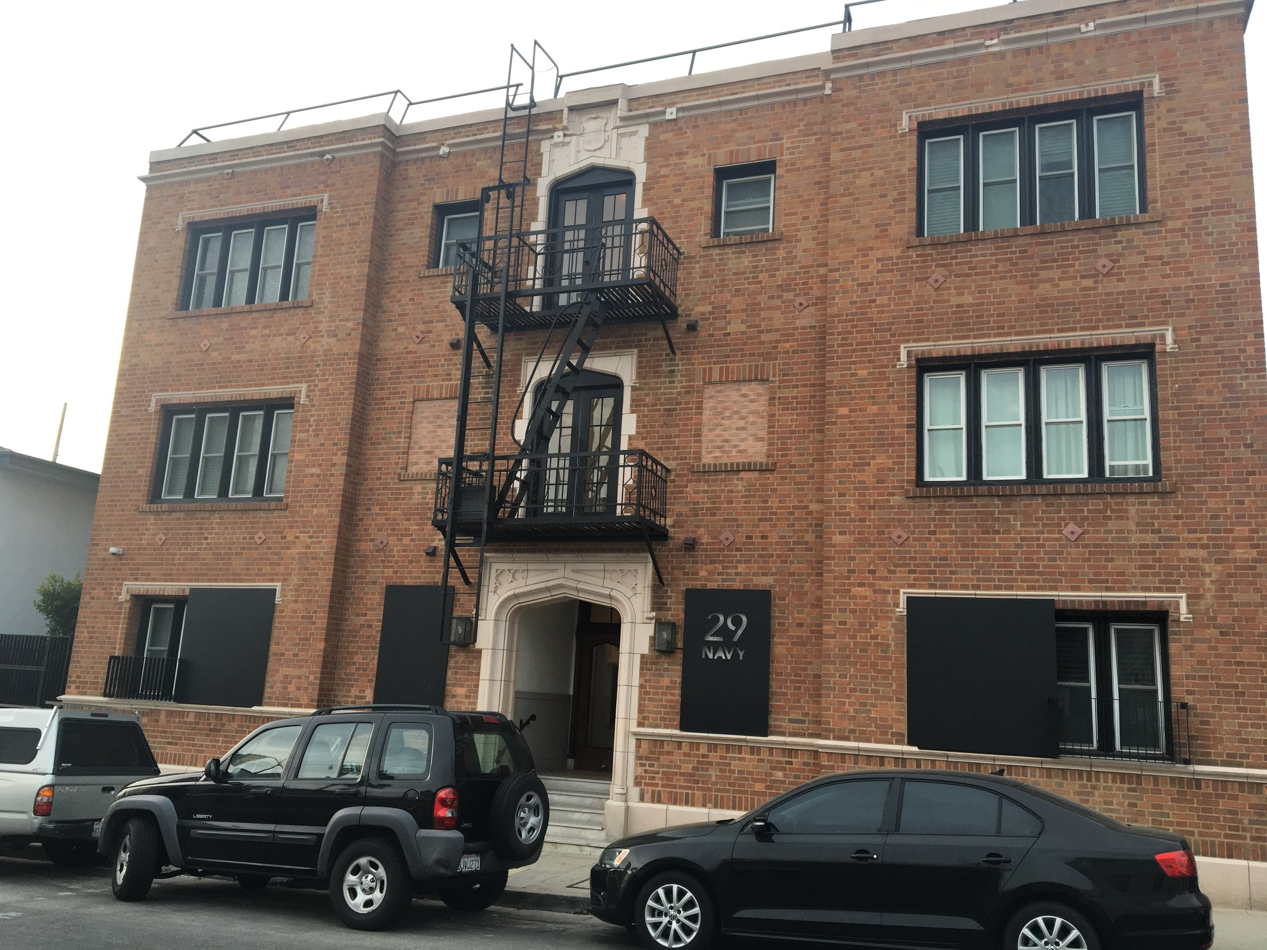 Residential tenants have been pushed out - The owner of 29 Navy paid his tenants to get out by having the apartments remodeled. Snap now uses 100% of the building housing for their interns