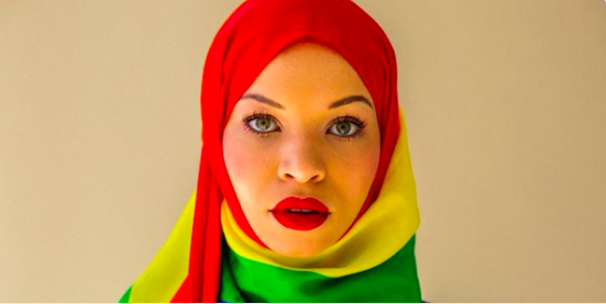 How I Came Out of the Closet, Converted to Islam, and Found My True Self  - Click link in title to read Aamina Khan's article in  them.   Photo by Lia Clay
