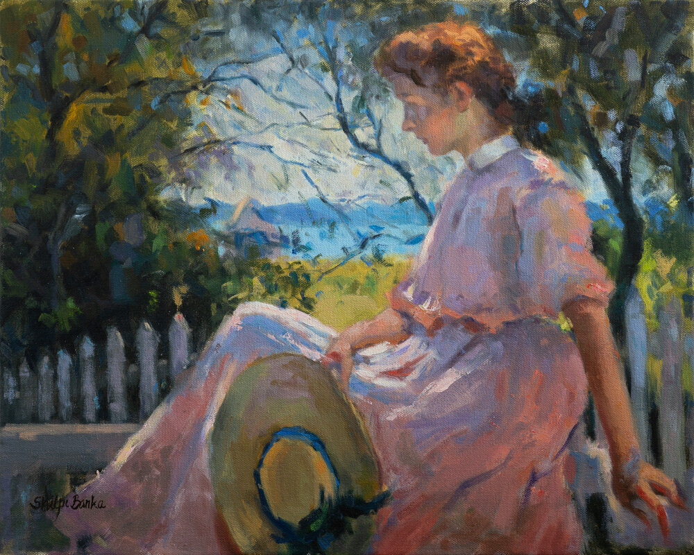 "Study of ""Eleanor"" by Frank Benson 1907"