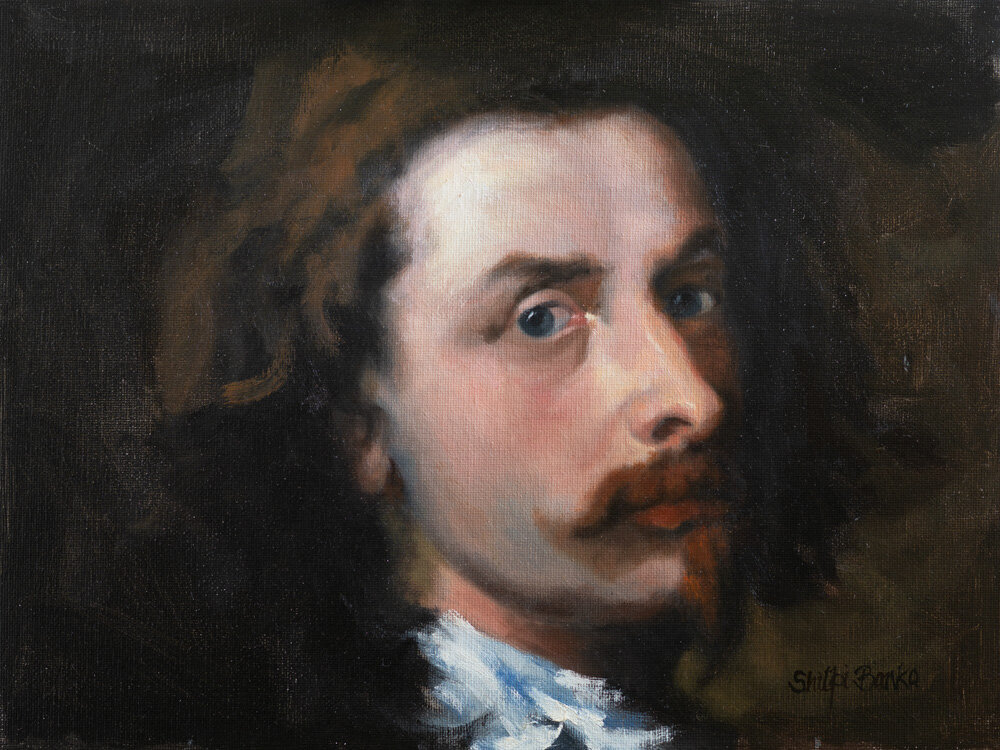 Study of self-portrait by Van Dyck 1640