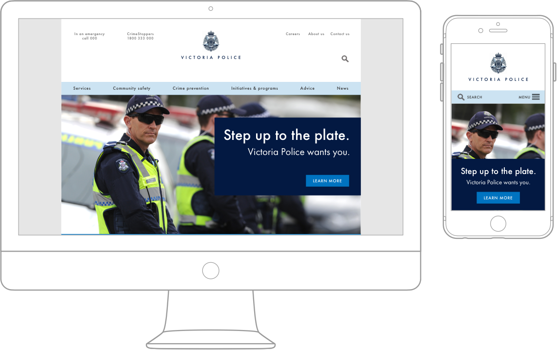 Victoria Police responsive website design — Judy Shaul